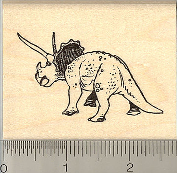 Triceratops Dinosaur Rubber Stamp