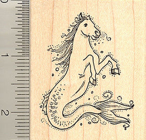 Hippocamp (Seahorse) Rubber Stamp