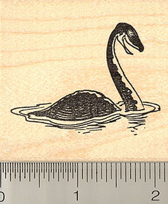 Cute Loch Ness Monster Rubber Stamp