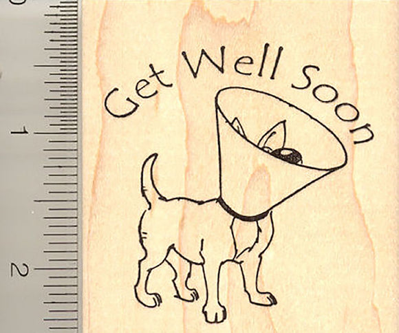 Get Well Soon Dog Rubber Stamp