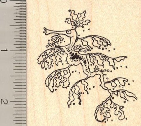 Sea Dragon Rubber Stamp