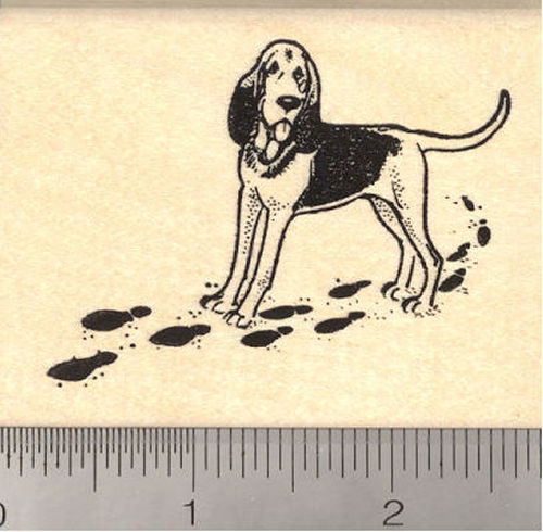 Bloodhound Dog Rubber Stamp