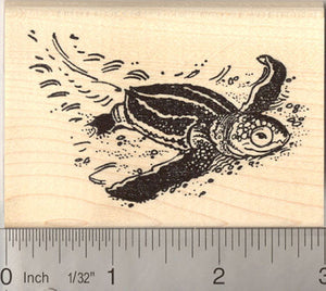 Detailed Baby Leatherback Sea Turtle Rubber Stamp