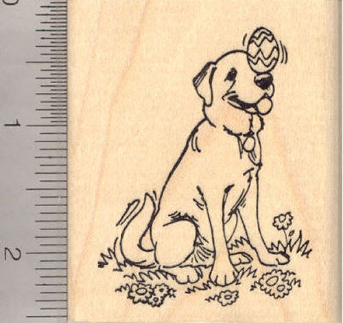 Easter Labrador Retriever Dog Rubber Stamp