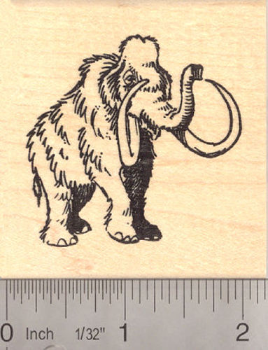Woolly Mammoth Rubber Stamp (Extinct Megafauna)