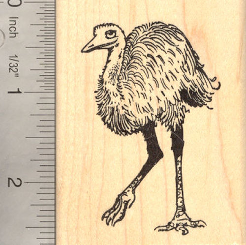 Australian Emu Bird Rubber Stamp