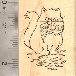 Cat New Year's Resolution (Fluffy) Rubber StampAlpaca Rubber Stamp (Huacaya)