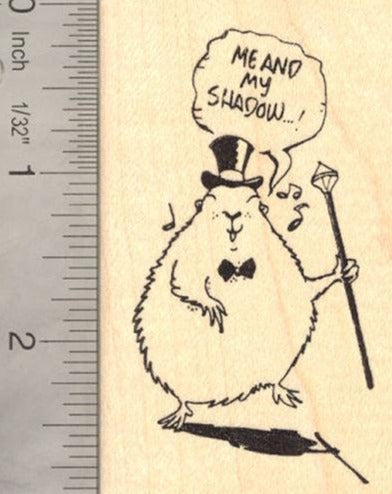 Groundhog Singing and Dancing Rubber Stamp, Groundhog Day