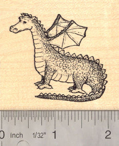 Dragon Rubber Stamp, Mythological, Fantasy