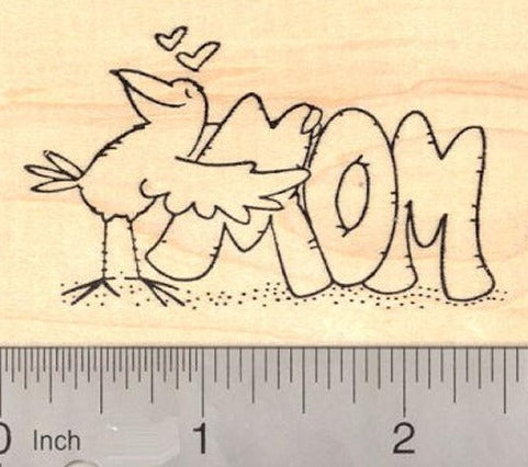 Mother's Day Bird Rubber Stamp