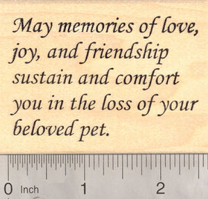 Sympathy in pet loss Rubber Stamp
