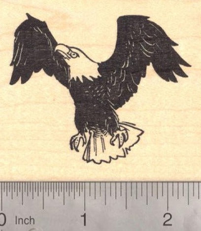 Bald American Eagle Rubber Stamp (fourth of July, July 4th)