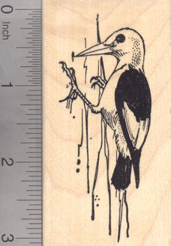 Red-headed Woodpecker Rubber Stamp
