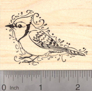 Blue Jay Rubber Stamp, AKA North American Bluejay Bird