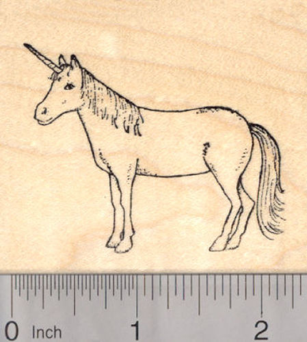 Unicorn Rubber Stamp