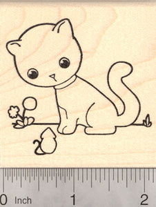 Cat and Mouse Rubber Stamp, Kitten