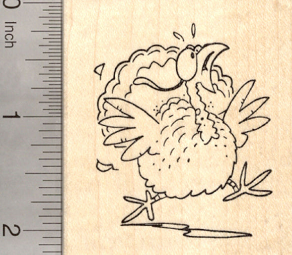 Thanksgiving Turkey Rubber Stamp, Raising the Alarm