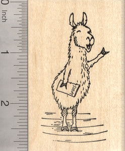 Drama Llama Rubber Stamp, Quoting Shakespeare