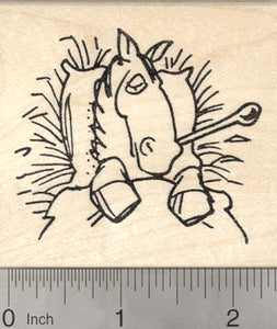 Get Well Horse Rubber Stamp, Large