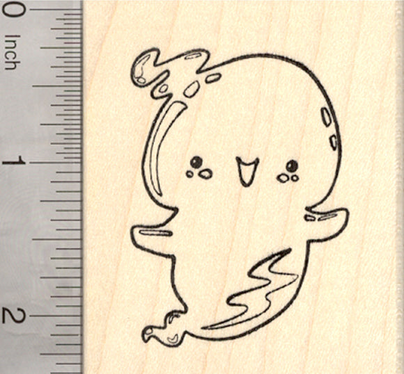 Halloween Ghost Rubber Stamp
