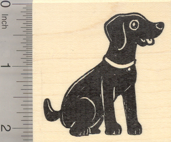 Black Labardor Retriever Rubber Stamp