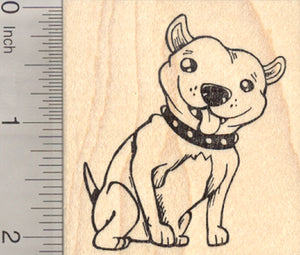 American Pitbull Terrier Rubber Stamp, Staffordshire Bull Dog