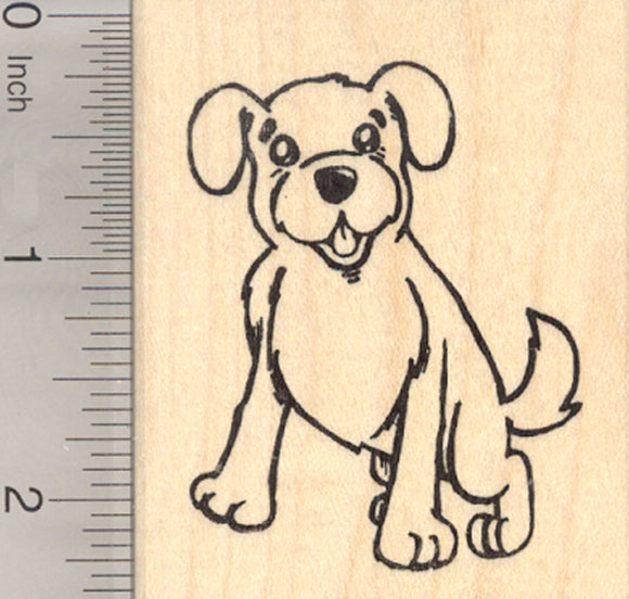 Golden Retriever Dog Rubber Stamp
