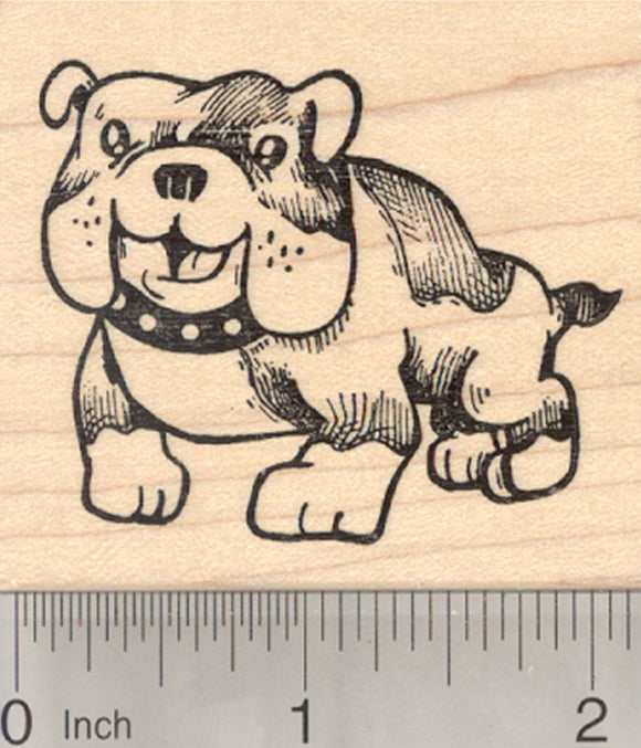 English Bulldog Rubber Stamp, Bull Dog