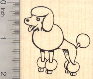 Poodle Dog Rubber Stamp