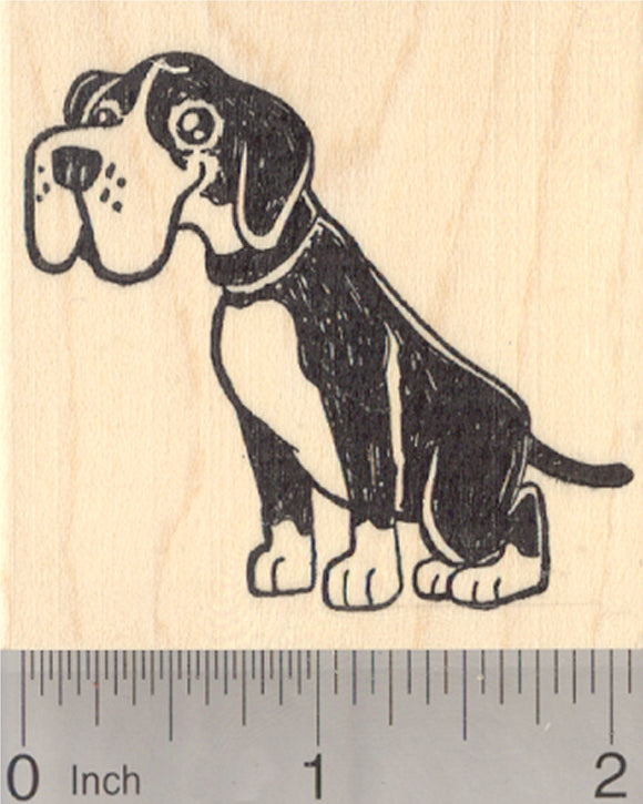 Boxer Rubber Stamp, Dog