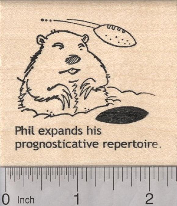 Groundhog Day Rubber Stamp, American Football