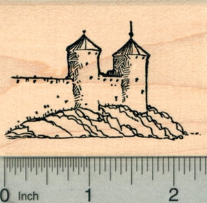 Irish Castle Rubber Stamp, Fortress