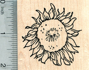 Sunflower Rubber Stamp, Summer Floral Series