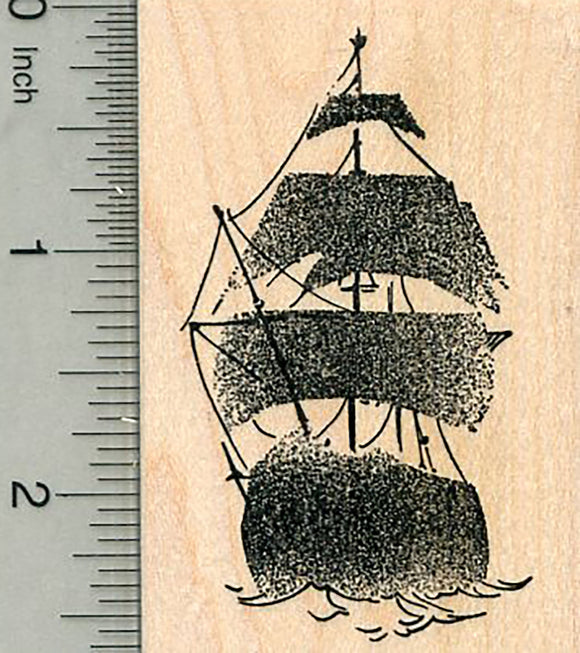 Ghost Ship Rubber Stamp, Pirate Series