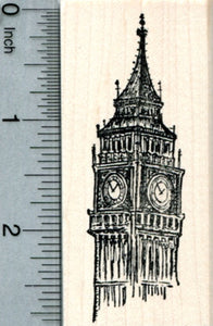 Big Ben Rubber Stamp, Westminster London, World Travel Series