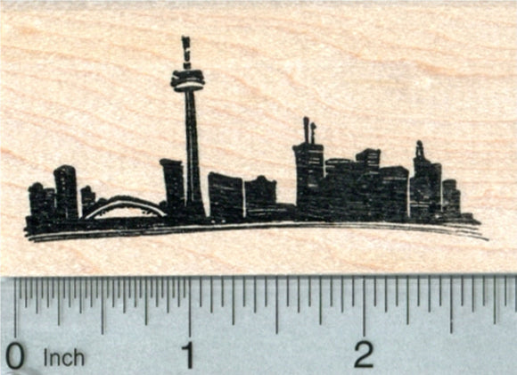 Toronto Skyline Rubber Stamp, Canada, World Travel Series