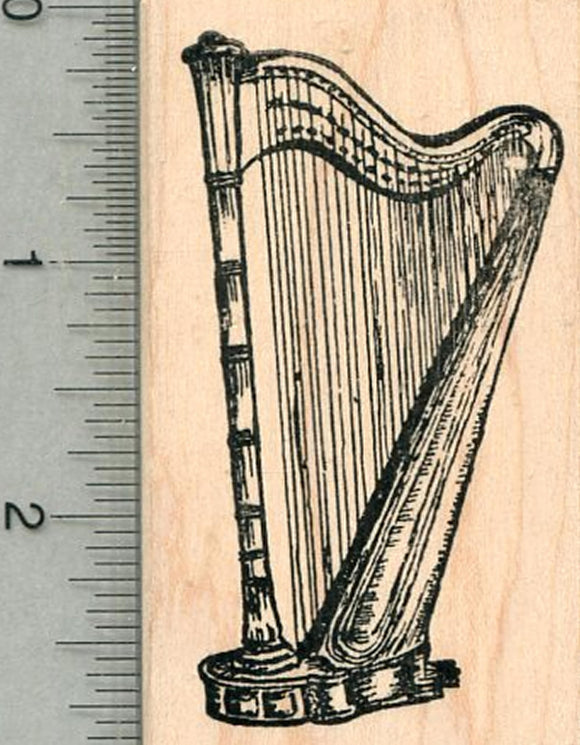 Harp Rubber Stamp