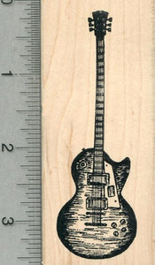 Electric Guitar Rubber Stamp, Musical Instrument Series