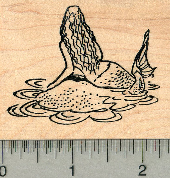 Mermaid Rubber Stamp, Folklore Series