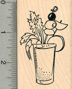Bloody Mary Rubber Stamp, Cocktail Series