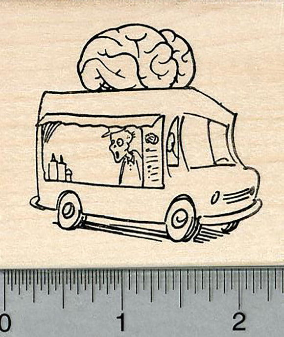 Zombie Rubber Stamp, Brain Food Truck