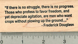 Frederick Douglass Quote Rubber Stamp, If there is no struggle