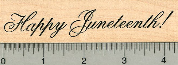 Happy Juneteenth Rubber Stamp, American History Series