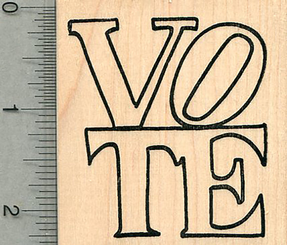 Large Vote Rubber Stamp, Election Series