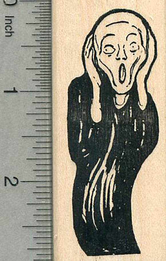 The Scream Rubber Stamp, Just the figure from Edvard Munch's Painting