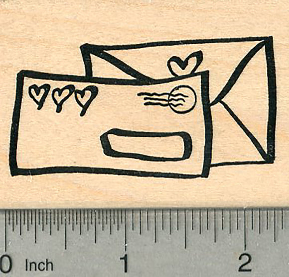 Love Letters Rubber Stamp, Valentines Series