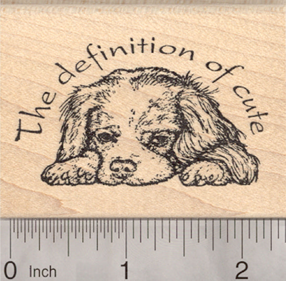 Cavalier King Charles Spaniel Rubber Stamp, Dog, Definition of Cute