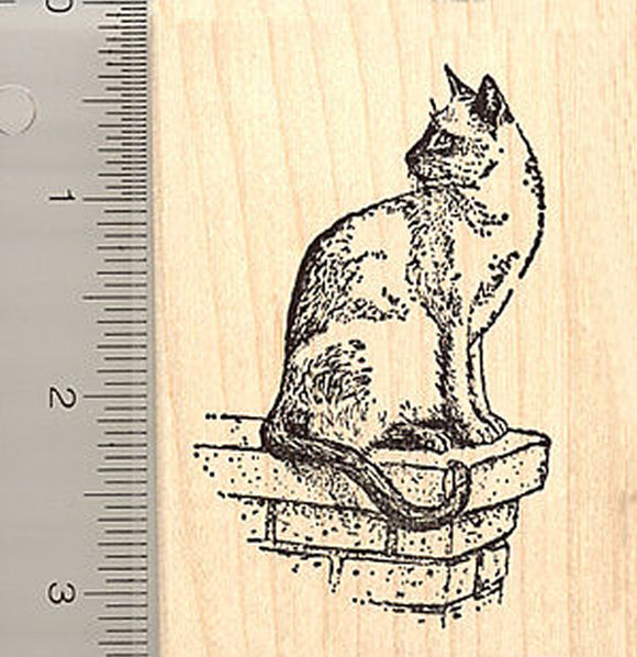 Siamese Cat Rubber Stamp