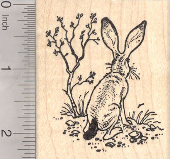 Jack Rabbit Rubber Stamp