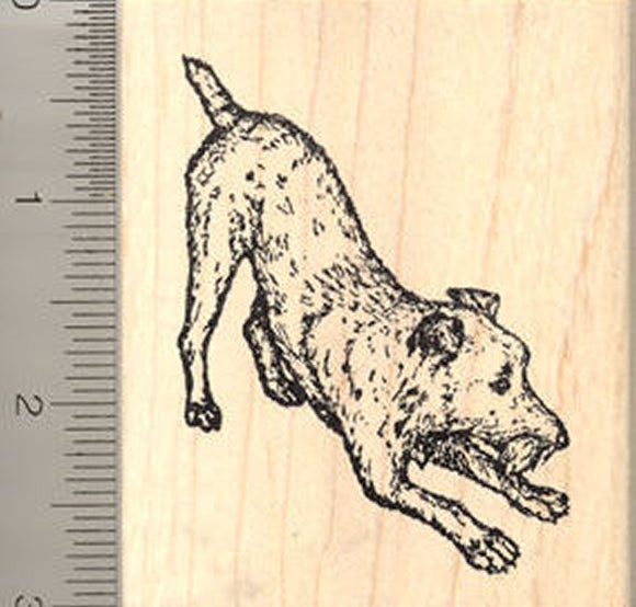 Irish Terrier Dog Rubber Stamp